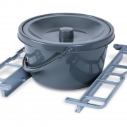 BathMobile round commode pan